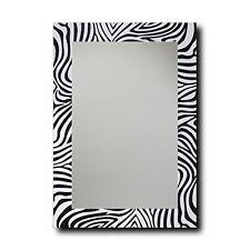 "Leick Furniture 70116 Zebra Decorative Wall Mirror-20"" x 28"" Black/White"