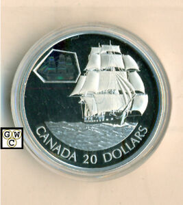 2001 Transportation Train Proof $20 Silver /'The Scotia/' 10449