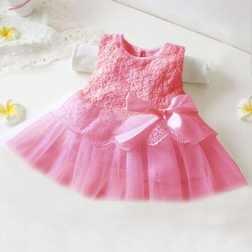 Kinder Mädchen Tüll Kleid Kinder Hochzeit Festkleid Prinzessin Spitze Partykleid