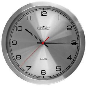 Modern-Wall-Clock-CHERMOND-Ticking-Metal-Case