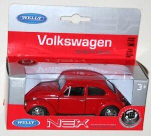 VW-BEETLE-COCCINELLE-VOLKSWAGEN-VOITURE-MINIATURE-WELLY-NEX-MODELS-NEUF