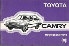 TOYOTA CAMRY 1 Betriebsanleitung 1983 Bedienungsanleitung V10 Bordbuch BA