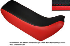 RED & BLACK CUSTOM FITS HONDA XL 600 LMF DUAL LEATHER SEAT COVER
