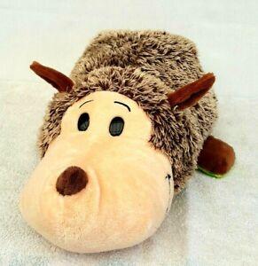 Flip-A-Zoo-Hanna-Hedgehog-Tito-Turtle-Soft-Plush-Stuffed-2-In-1-Animal-Toy-48CM