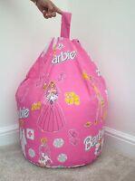 Childrens Character Barbie Beanbag Filled Kids Bean Bag Beenie Bedroom