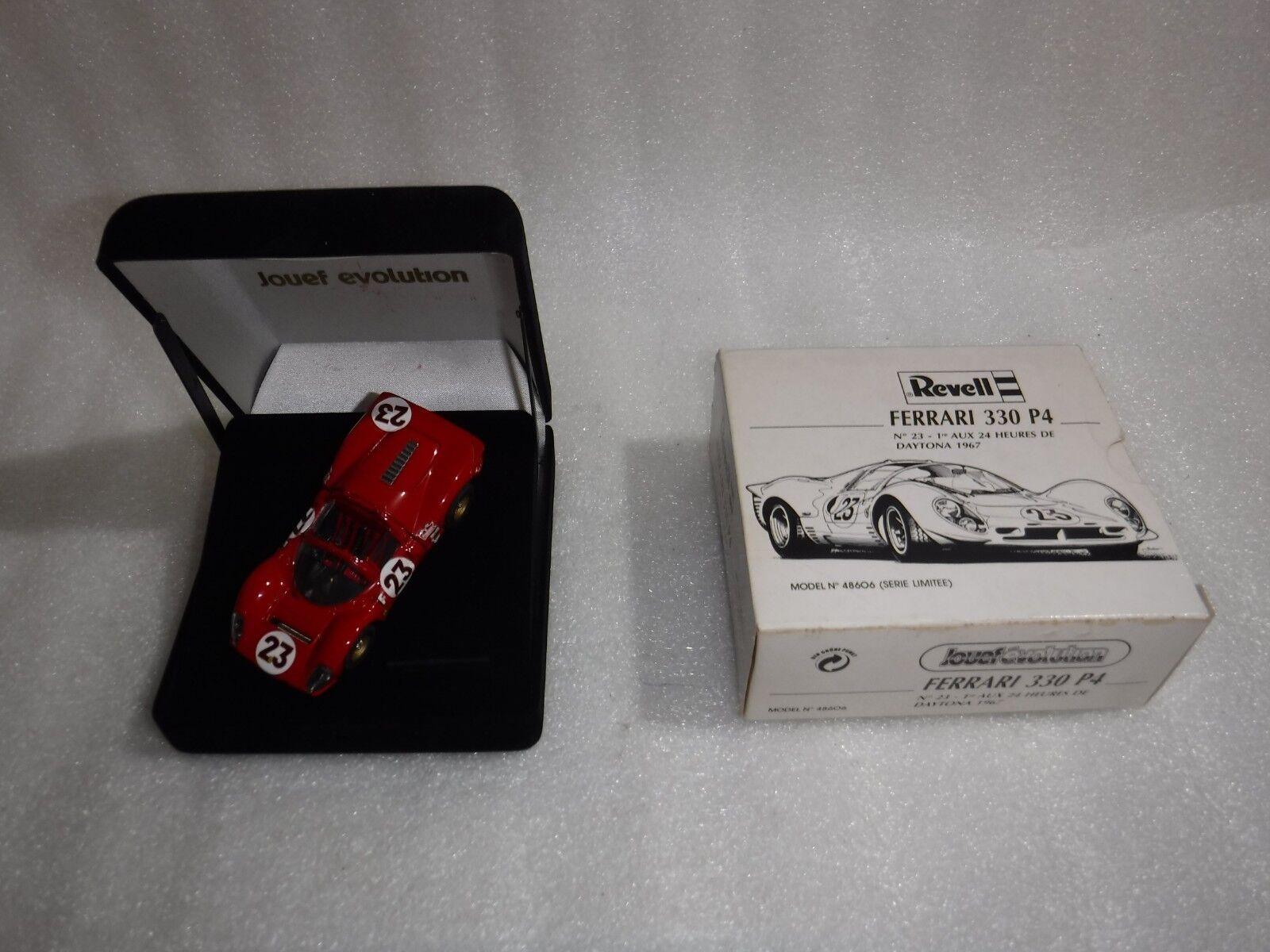 Vintage REVELL JOUEF EVOLUTION FERRARI 330 P4 Daytona modèle voiture de course... RARE