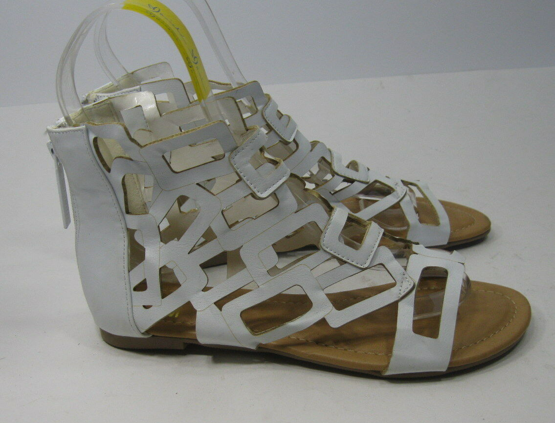 new Summer White Gladiator Open Toe Womens Roman Gladiator White Sexy Sandals Shoes Size 7 d94a18