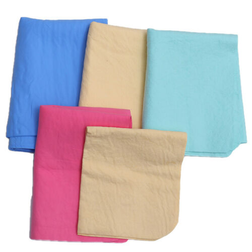 Natural Shammy Chamois Leather Car House Cleaning Towels Drying Washing Cloth