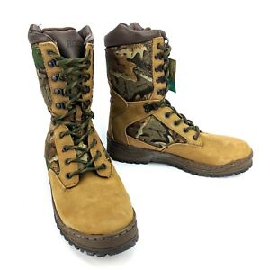Rocky-2041-Hunting-Boots-Leather-Cordura-Camo-Size-9-M-NOS-Vtg-90s