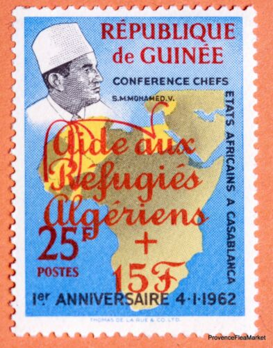 Guinea Conference Casablanca Mohamed V assistance to the refugees Algerians