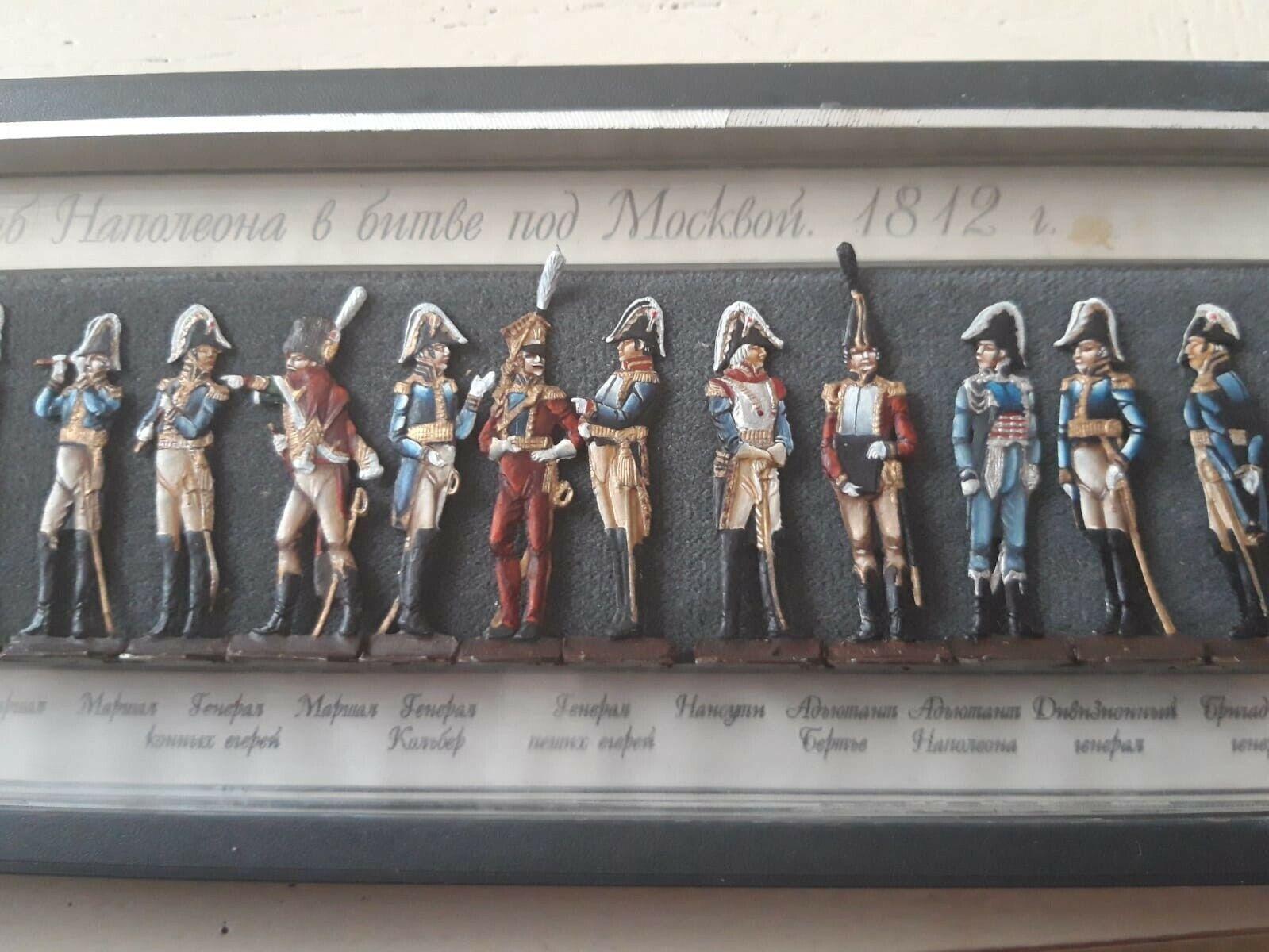 Very rare flat metal figures depicting depicting depicting Napoleon and his generals d8f