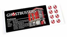 CUSTOM PLAQUE STICKER for GHOSTBUSTERS LEGO 75827 Firehouse , Kenner , etc