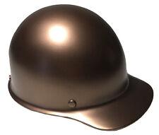 Custom Painted Hard Hat Msa Skullgard Cap Style Copper Metallic Satin