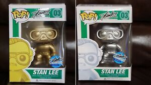 Stan Lee Gold & Silver Funko Pop Set (NYCC Exclusive) RARE! BLACK FRIDAY SPECIAL
