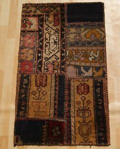 Details About Living Room Decor Turkish Patchwork Rug Rectangle Handmade Wool Area Rugs 2x3ft