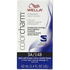 Wella Color Charm Liquid Haircolor 3a/148 Dark Ash Brown, 1.4 oz (Pack of 3)