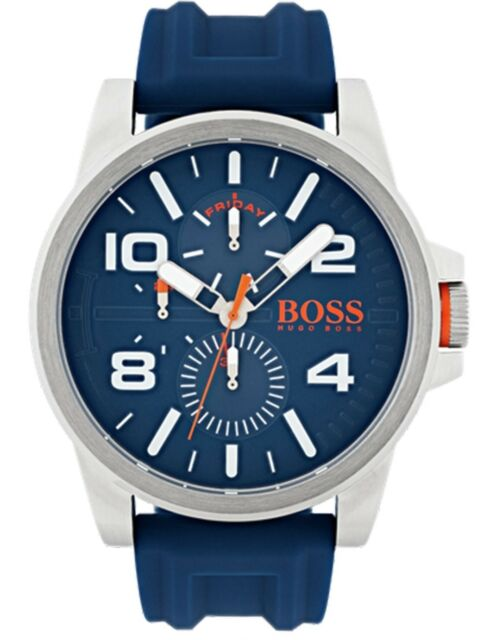 Hugo Boss 1550008  Orange Men's Detroit Stainless Steel Watch - Blue.