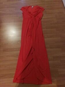 abendkleid lange kleider rot schwarz gr.40