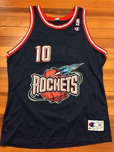 Vintage 90 s Sam Cassell HOUSTON ROCKETS CHAMPION Basketball Jersey ... 67cbf9436