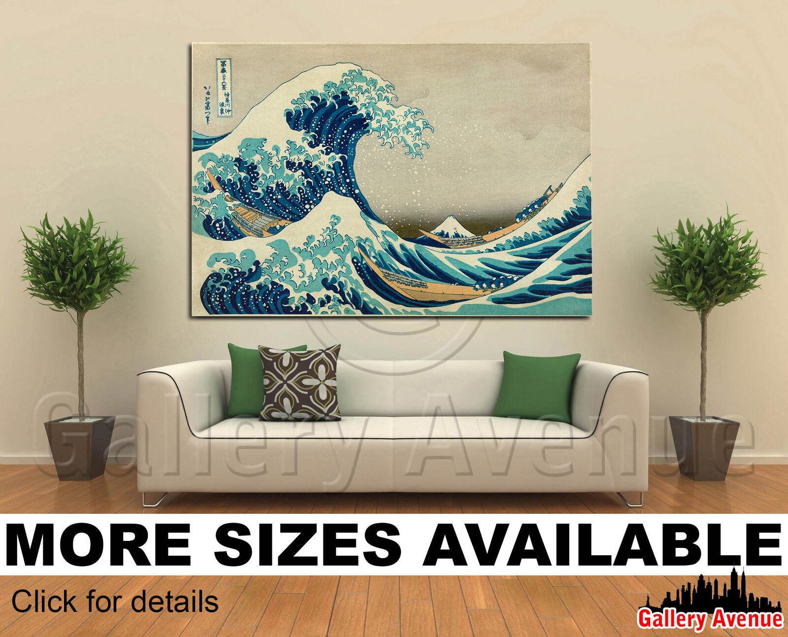 Wall Art Canvas Picture Print - Great Wave of Kanagawa - 3.2