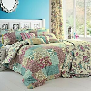 Dreams-amp-Drapes-MARINELLI-Patchwork-Duvet-Cover-Bedding-Set-Pencil-Pleat-Curtain