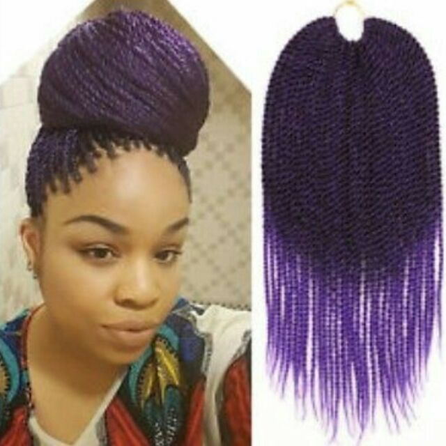 18 16 14 Inches Crotchet Senegalese Twist Crochet Braid Hair