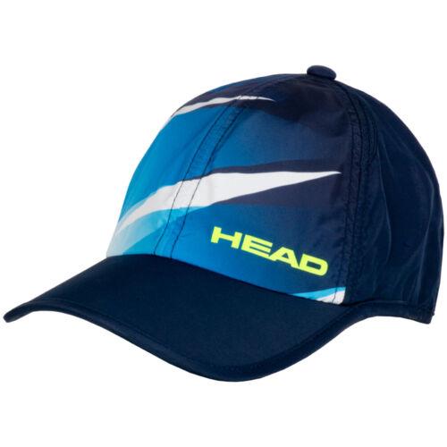 Neuf avec étiquettes-Head Light Fonction bleu Marine//Bleu//Volt Tennis Ajustable Casquette-Taille Unique