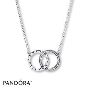 Pandora Women Silver Pendant Necklace - 396235CZ-45 IK1uD