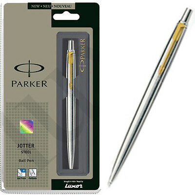 PARKER Jotter Stainless Steel GT Ball Pen (Chrome) - Free Shipping - New
