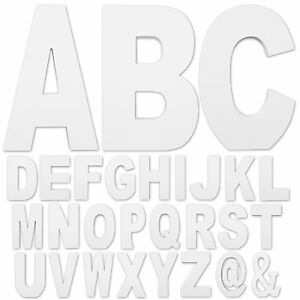 8-75-034-Tall-1-034-Thick-MDF-Wooden-Decorative-Letters-Free-Standing-White-Finish