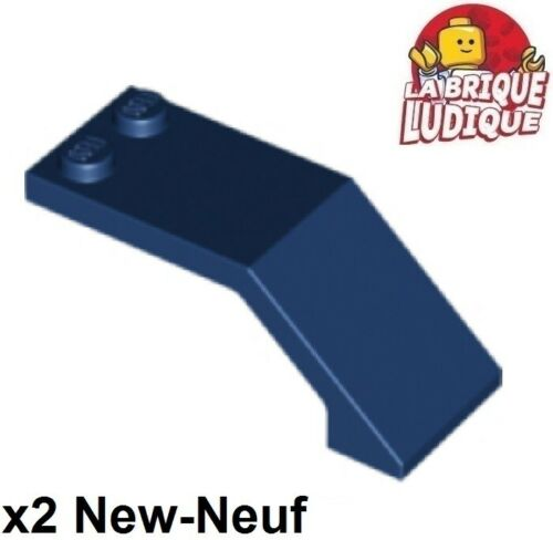 Lego 2x Windscreen 5x2x1 2//3 cockpit pare brise bleu foncé//dark blue 6070 NEUF