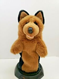 Daphnes-golf-headcover-German-Shepherd-Previous-Style-RARE-Front-Paw-Pink-Tongue