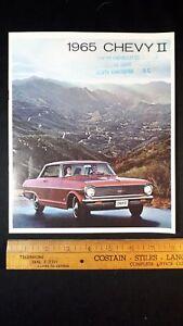 1965-CHEV-Chevy-II-Original-Dealer-Sales-Brochure-Good-Condition-CDN