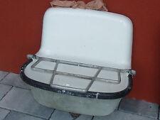 vintage ANCIEN EVIER lavabo EXTERIEUR en FONTE EMAILLE ferronnerie RENDSBURG