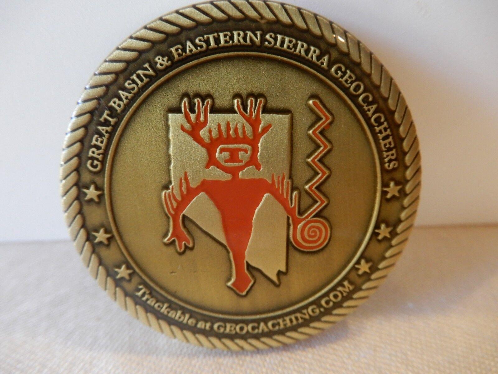 GREAT BASIN & EASTERN SIERRA GEOCACHERS Challenge Coin  Gardnerville NV 2006