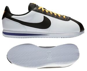 New NIKE Cortez Leather Retro Classic Casual Shoes Mens white all ... feb15d220