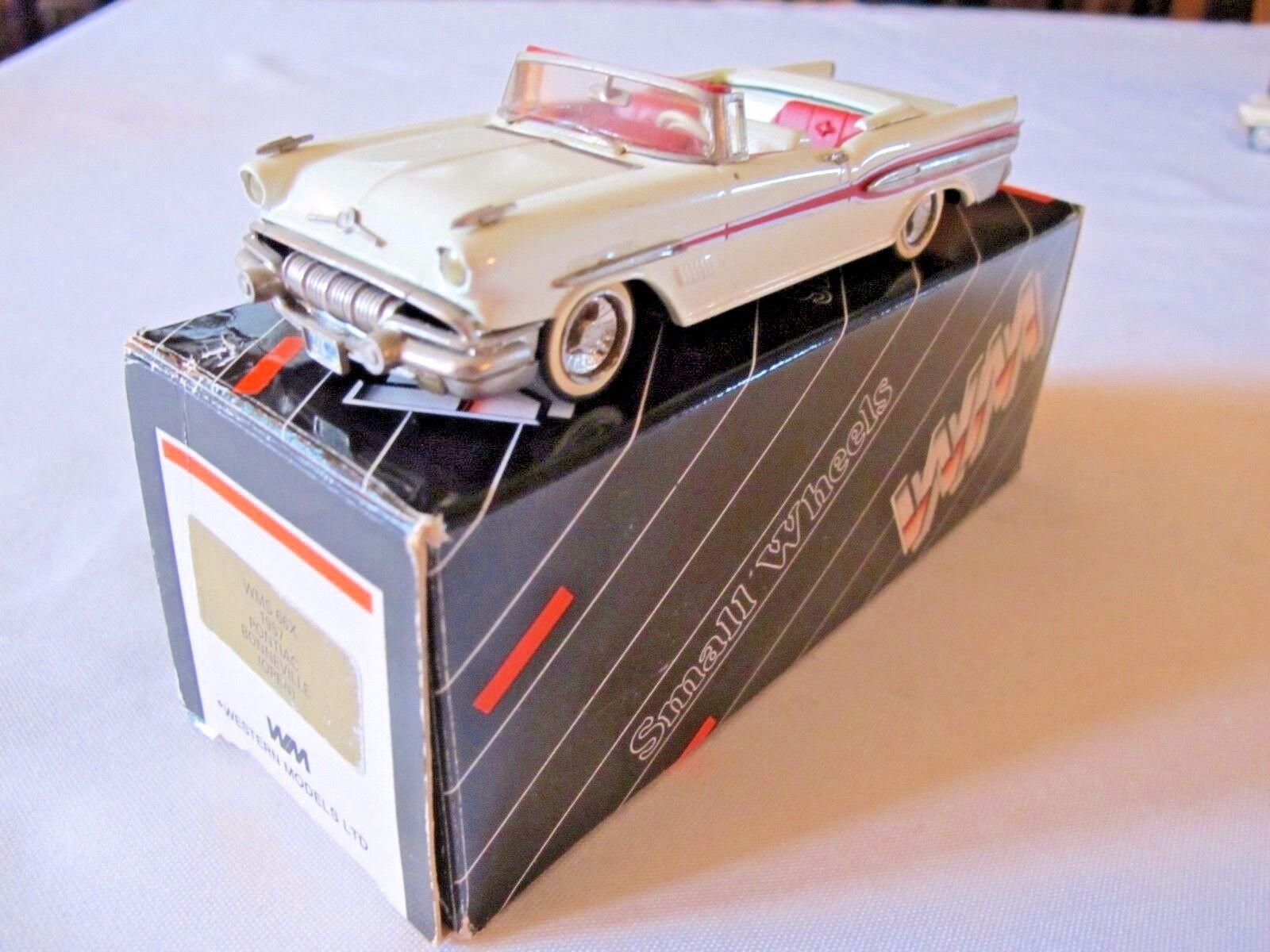 Western Models WMS 66X 1957 Pontiac Bonneville convertible 1 43 avec boite
