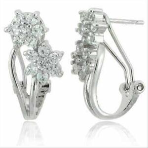 925-Silver-CZ-Double-Flower-Earrings