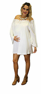 White Maternity Mini Dresses