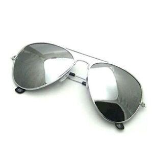 Hombre-Mujer-Espejo-Plateado-Clasico-Gafas-de-Sol-UV400-Tono