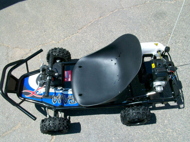 49cc Gas Powered Go Kart Off Road Cart Scooterx Baja Blue Mini Kid