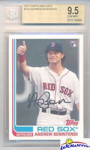 2017-Topps-Archives-132-Andrew-Benintendi-ROOKIE-BGS-9-5-GEM-MINT-Red-Sox