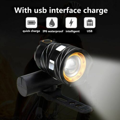 LED USB Line Rear Light Adjustable Bicycle Light 3000mAh Rechargeable Battery