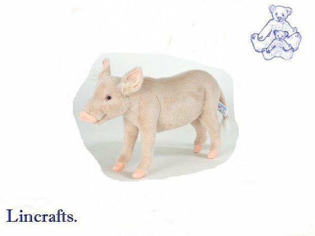 Hansa Standing Pig 5546  Plush Soft Toy Sold by Lincrafts Etablished 1993