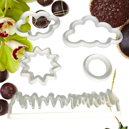 5Pcs//Set Grass//Sun//Cloud Useful Cookie Cutter Fondant Mold Cake Kitchen Gadget