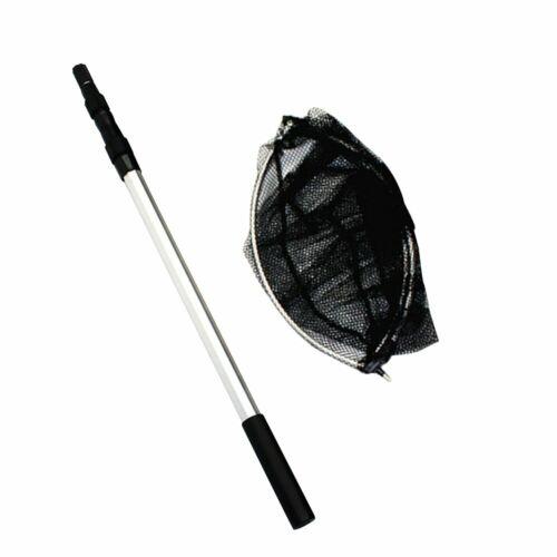 Extending Fishing Net Landing Net Pole Handle 3 Section Telescopic Mesh Y1