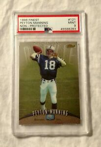 1998-Topps-Finest-Peyton-Manning-Non-Protected-121-PSA-9-Mint-Rookie-Colts-HoF