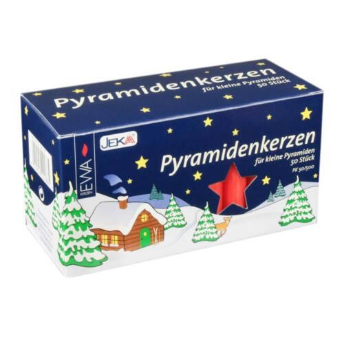 German Pyramid Candles Medium Red 14mm CDD050X500XR