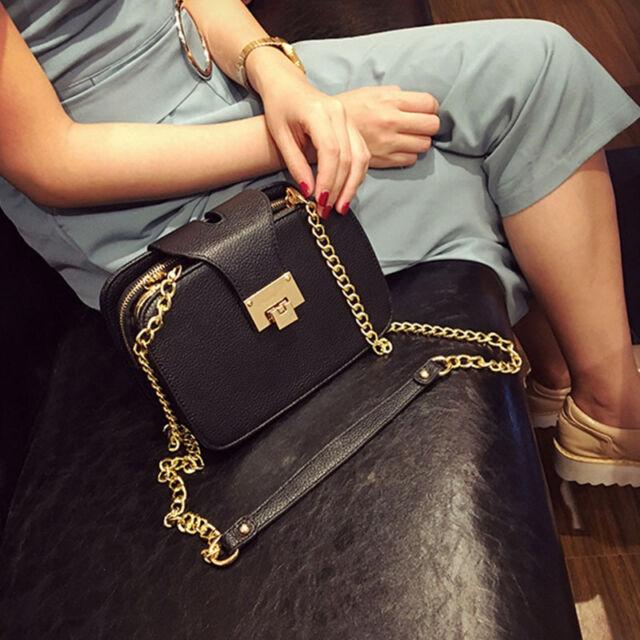 2017 Fashion Women Shoulder Bag Chain Strap Flap Messenger Handbag Metal- Dcql