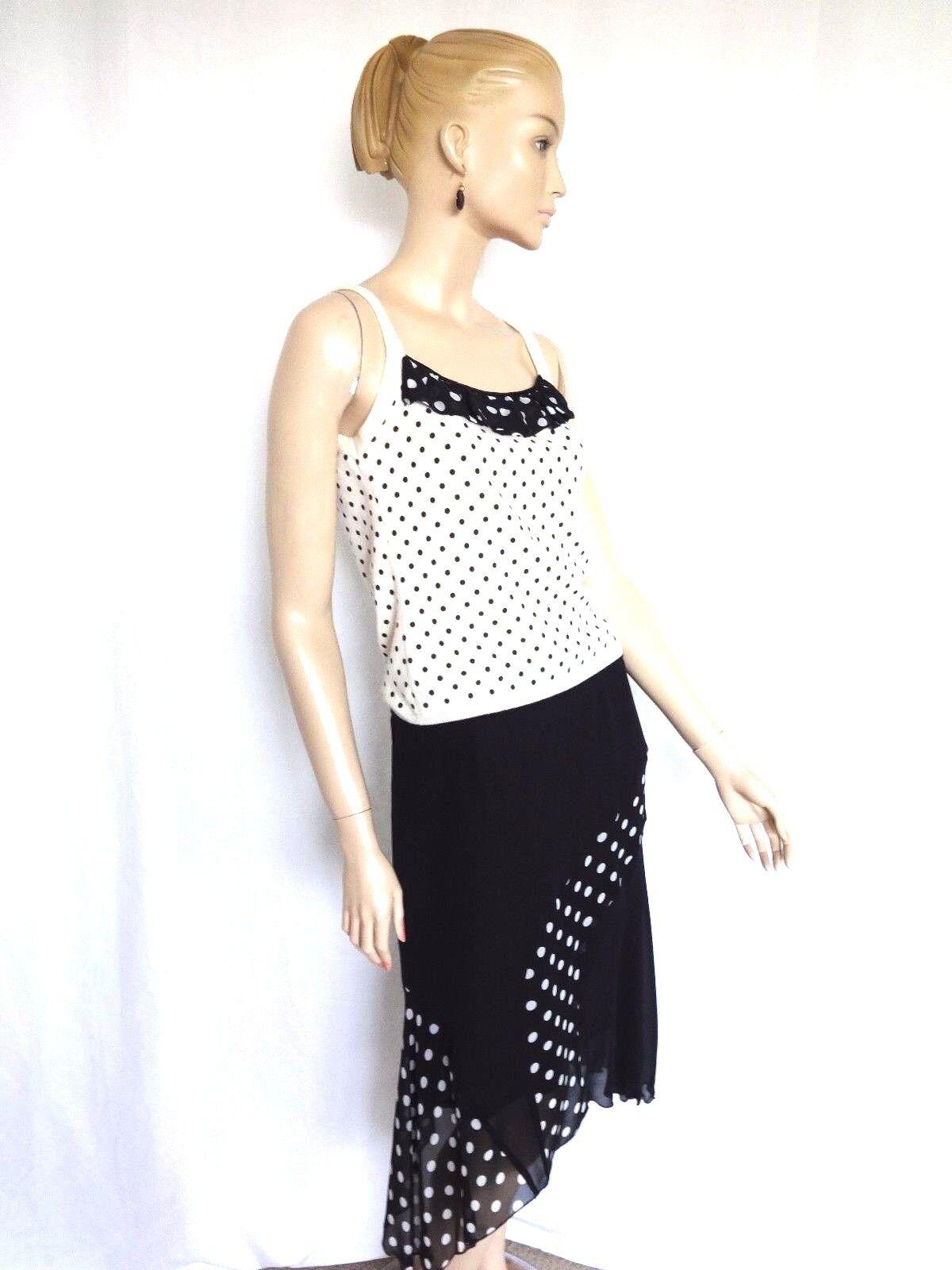 MARIA DI RIPAWeiß  CASHMERE-SILK 2PC DRESS TOP AND SKIRT Größe 8 10